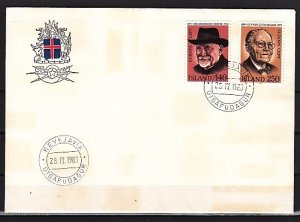 Iceland, Scott cat. 528-529. Writers issue. First day cover. ^
