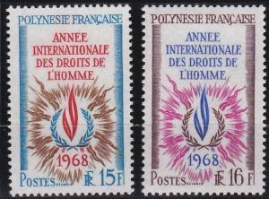 French Polynesia 243-244 MNH (1968)
