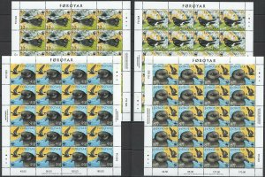 S0472 2005 FOROYAR FAROE ISLANDS WWF FAUNA BIRDS MICHEL 270 EURO 20SET MNH
