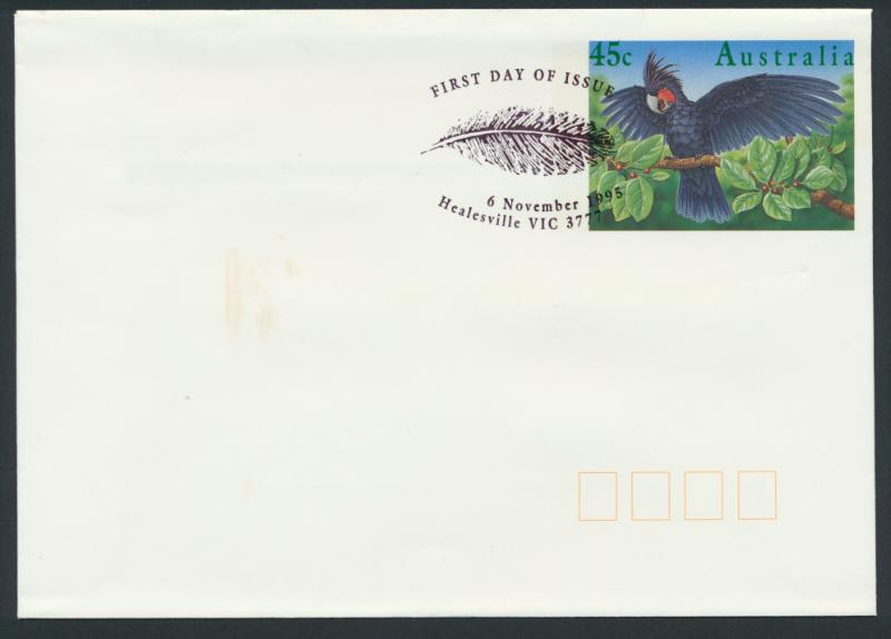 Australia PrePaid Envelope 1995  E340 Palm Cockatoo