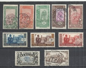 FRENCH COLONIES - LOT OF 10 DIFFERENT  1 - POSTALLY USED