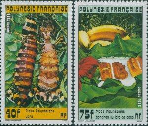 French Polynesia 1988 Sc#474-475,SG524-525 Polynesian Food Dishes set MNH