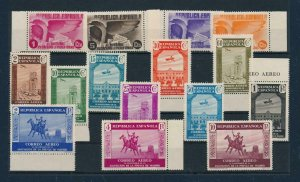 [107836] Spain 1936 Press Madrid airmail Few stamps very light spot points MNH