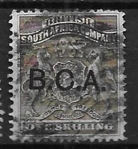 British Central Africa 7 1sh B.C.A. single Used