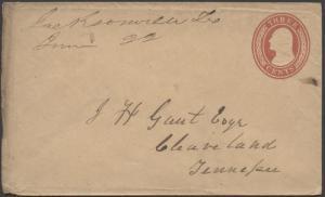 TEXAS CHEROKEE COUNTY (1800's Jacksonville)(Manuscript Cancel)