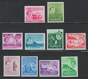 Mauritius 1953 Churchill QE II Pictorials Scott # 251 - 260 MH