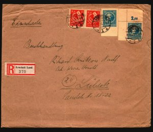 Germany DDR 1946 Thuringia Registered Arnstadt Cover (See Notes) - Z17203