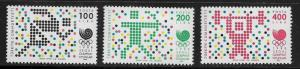 TURKEY, 2414-2416, MINT HINGED, OLYMPIC GAMES 1988