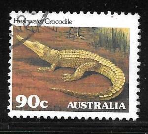 Australia 799: 90c Freshwater Crocodile (Crocodylus johnsoni), used, F-VF