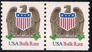 #2604S (10) cents Eagle Coil Pair Stamp mint OG NH XF