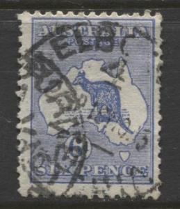 Australia - Scott 48 - Kangaroo -1915 - FU - Wmk 10 - Die II - 6d Stamp2