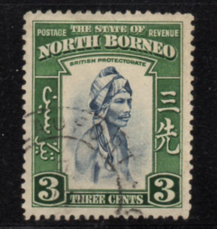 North Borneo Sc 195 1939 3 c Native stamp used