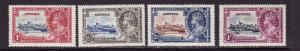 Antigua-Sc#77-80-unused hinge remnant  KGV Silver Jubilee set-1935-