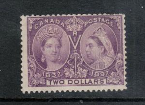 Canada #62 Mint Fine Original Gum Hinged - Short Perfs At Upper Right