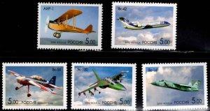 Russia Scott 6956-6960 MNH** Aircraft stamp SET