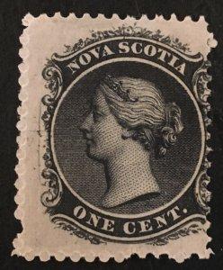 Nova Scotia Scott 8 Queen Victoria One Cent Cent-Mint NH