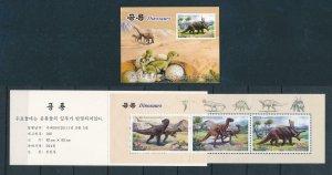 [107185] Korea 2011 Prehistoric animals dinosaurs Booklet MNH