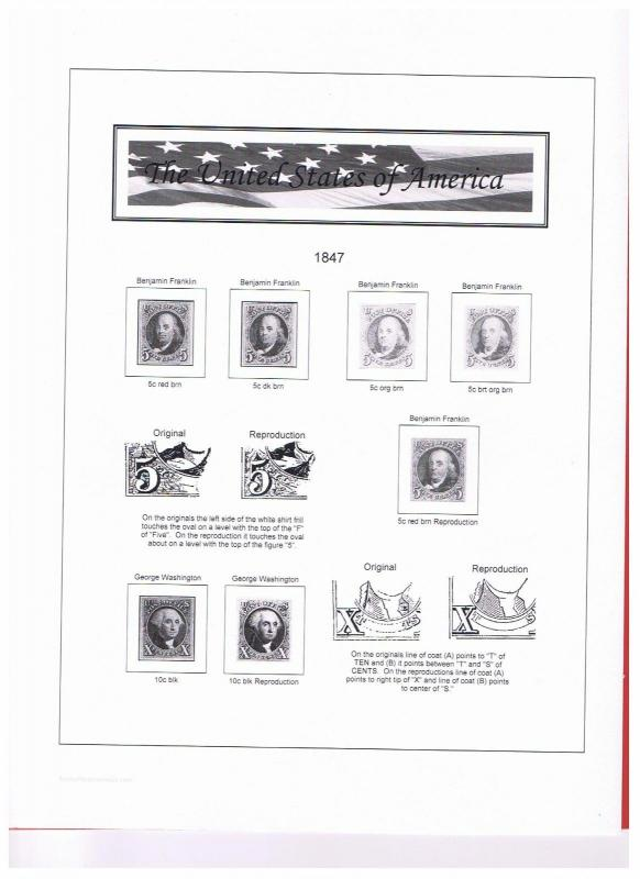 Stamp Paraprernaiia USA Volume l & ll  US black & White Stamp Album 1847-1969