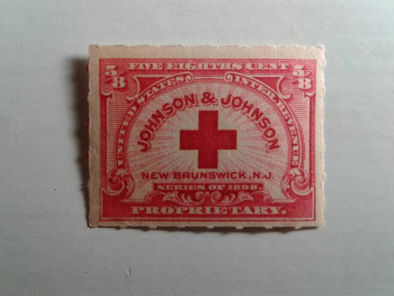 SCOTT # RS286 MINT NEVER HINGED GEM 5/8 CENT JOHNSON AND JOHNSON !!!