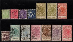 $So. Australia Sc#144-157 used+M/H/F-VF, complete set, Cv. $346.20