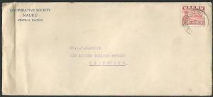 NAURU 1937 commercial cover with 1½d freighter......................37873
