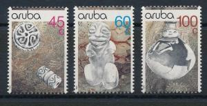 Aruba 1990 Art Statue discoveries Archaeology Stone Jar History Cultures Stamps