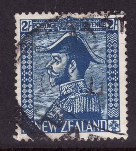 New Zealand-Sc#182-used 2sh blue-KGV-Admiral