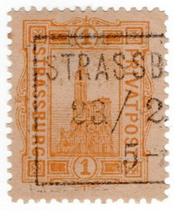 (I.B) France Local Post : Strassburg Privatpost 1pf