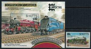 St. Kitts-Nevis #407-8* NH  CV $9.80