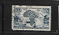 FRENCH WEST AFRICA, 64, USED, ROTARY EMBLEM