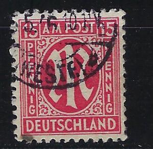 Germany AM Post Scott # 3N9a, used