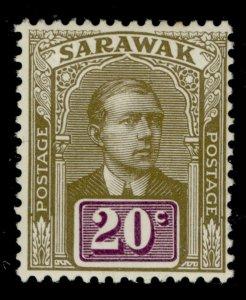 SARAWAK GV SG58, 20c olive and violet, M MINT.