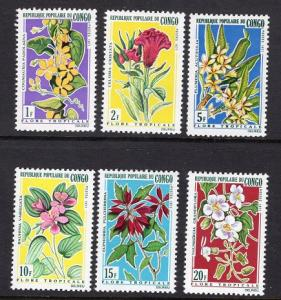 Congo  #237-242  1971   MNH  tropical flowers complete