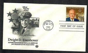 2513 Eisenhwer Unaddresssed PCS FDC