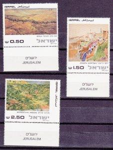 Israel MNH 771-3 W/Tabs Jerusalem