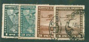 Chile C99-102 USED BIN $2.00