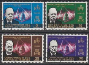 NEW HEBRIDES FRENCH 1966 Churchill set fine used...........................54806