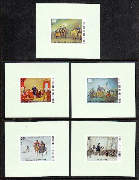Burkina Faso 365-7,C209-10 US Bicentennial Deluxe Proofs NH