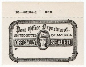 (I.B) US Postal Service : Officially Sealed Label (marginal)