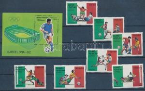 Guinea Bissau stamp Football World Cup set + block MNH 1989  WS134906
