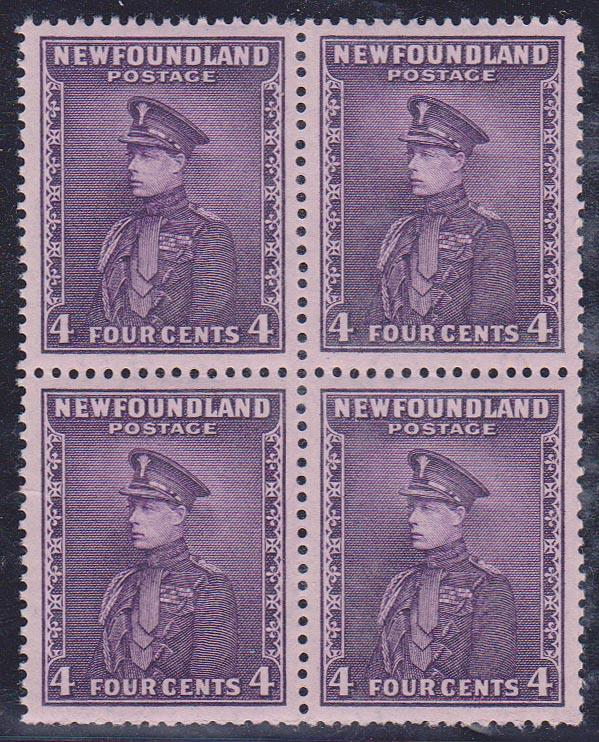 Newfoundland - #188 mint 4c Prince of Wales Block of 4 VF-NH