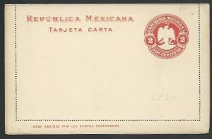 MEXICO  1890s 2c Lettercard unused.........................................60361