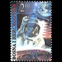 BOSNIA 1999 - Scott# 329 Moon Landing Set of 1 NH