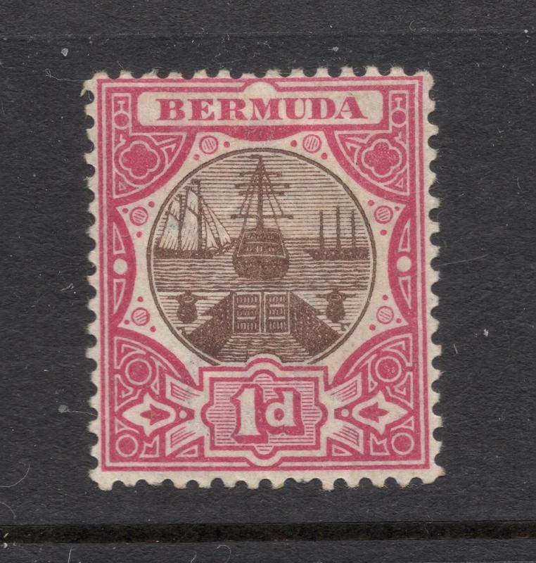 Bermuda #29 Carmine Rose & Brown - Unused - O.G.
