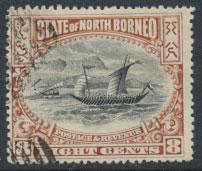 North Borneo  SG 102b Used  perf 15 please see scan & details