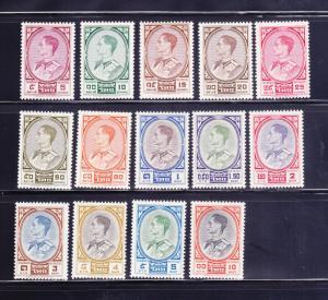 Thailand 348-355, 356-360 MH King Bhumibol Adulyadej