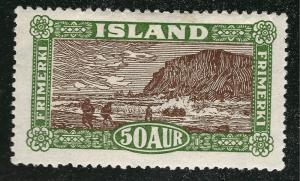 Iceland SC #148 Mint Very Fine small hr SCV $70.00 Very Nice!