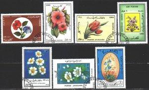 Afghanistan. 1988. 1572-78. Flowers, flora. USED.