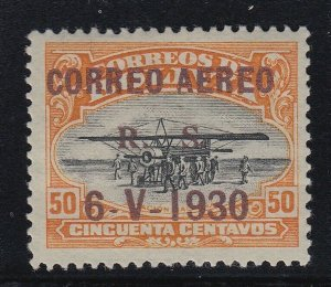 Bolivia 1924 Aviation School 50c Zeppelin Overprint LM Mint. Scott C16