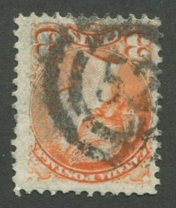 CANADA #37 USED SMALL QUEEN 2-RING NUMERAL CANCEL 52